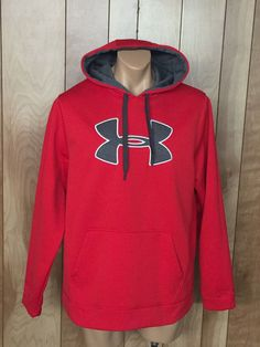 MEN'S UNDER ARMOUR HOODED SWEATSHIRT-SIZE: LARGE #UnderArmour #Hoodie