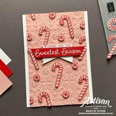 Stampin Up Christmas, Christmas Cards To Make, Xmas Cards, Christmas Greetings, Christmas Crafts, Diy Cards, Stamping Up Cards, Winter Cards, Candy Cane