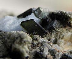 Clintonite, Ca(Mg,Al)3(Al3Si)O10(OH)2, Camonica Valley, Brescia Province, Lombardy, Italy. Clintonite crystals (var. xanthofillite) to 4mm in length.  Copyright: © Simone Boscolo