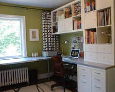 30 Corner Office Designs and Space Saving Furniture Placement Ideas – Home office design layout Ikea Home Office, Home Office Space, Small Office, Home Office Design, Office Designs, Corner Office, Corner Desk, Front Office, Office Nook