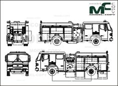 American LaFrance RESCUE PUMPER BEST VALUE (fire engine) - drawing