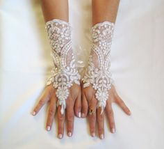 Lace Gloves | lace wedding gloves (7) | Trendy Mods.Com
