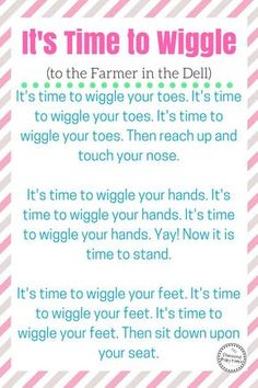 Preschool Wiggle Song about Body Parts