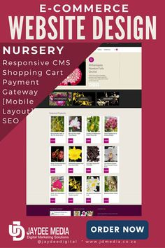 Website Design - We Develop an affordable Nursery e-Commerce Website - prices available Online Web Design, Ecommerce Web Design, Image Newsletter, Web Domain, Website Details, Online Websites, Seo Software, Responsive Web, Nursery Design