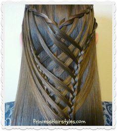 Criss cross waterfall mermaid braid video tutorial