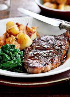 Low FODMAP & Gluten free Recipe - Steak with sautéed potatoes  http://www.ibssano.com/low_fodmap_recipe_steak_sauteed_potatoes.html