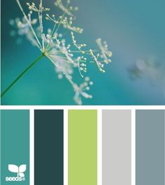 Teal, chartreuse, gray