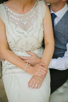 Jenny Packham wedding gown - photo by Grace Photography http://ruffledblog.com/irish-countryside-wedding-with-doilies #weddingdress #weddinggown