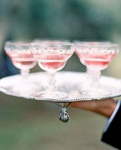 Pink Champagne in Vintage Coupes.