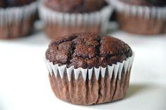 Chocolate, Chocolate Chip muffins made with applesauce. I used splenda instead of sugar. Really good!