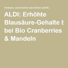 Cranberries, Almonds