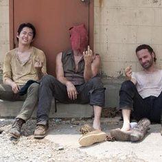 Walking Dead. Glenn, Daryl, and Rick. Yes sir.