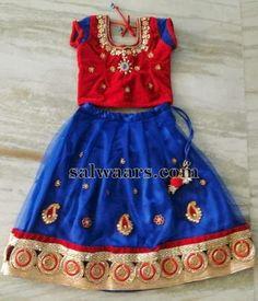 Crystal Work Kids Net Lehenga | Indian Dresses