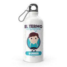 Termo - El termo del mejor runner, encuentra este producto en nuestra tienda online y personalízalo con un nombre. Lemonade, Water Bottle, Drinks, Engineer, Carton Box, Sons, Training, Store, Creativity