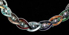 Nespresso - Kette geflochten mit Perlen - Detail Diy Accessoires, Cup Art, Upcycle, Creations, Jewelry Making, My Style, Bracelets, Silver, Crafts