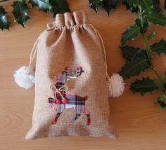 Unique 20x30cm jute fabric sack linen pouch от LovelyPerfectStyle