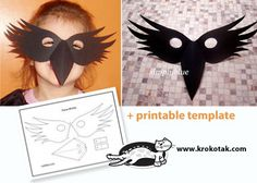 CROW MASK for My Little Fledgling