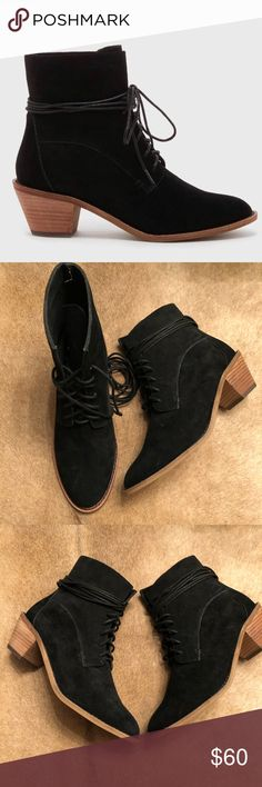 Kelsi Dagger Brooklyn Kingsdale Ankle Boot These boots are beautiful! They feature study suede and extended laces for added character! The heel is modest which allows for all day and daily wear! These boots are in excellent condition! Kelsi Dagger Shoes Lace Up Boots