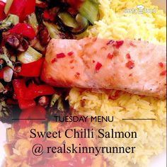 Sweet chilli salmon, rice and #superfree veggies - all free on #slimmingworld #extraeasy with syns for the sweet chilli sauce #happyslimming #food #foodporn #delicious #eating #foodpics #foodgasm #foodie #tasty #yummy #eat #hungry #love #unitedkingdom  #liverpool #realskinnyrunner