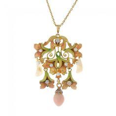 An early 20th century enamel, diamond and gem-set : Lot 37