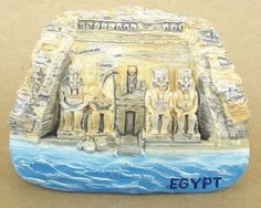 Egypt Sanctuary Mummy Pharaoh Tourist Souvenir Fridge Travel Magnet Gift 2.7""