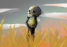 ArtStation - corn skull, Hanadi Al hijazy