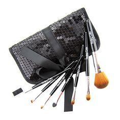Brand New 7 Pcs Mini Synthetic Fiber Starter Makeup Brush Kit