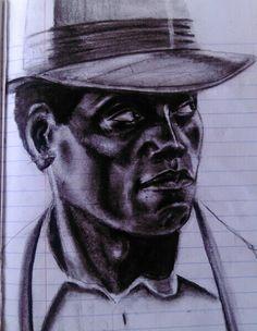 journal sketch; Wesley Snipes 2015