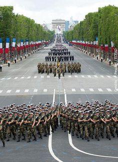 Défilé militaire du 14 juillet.