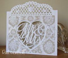 Blog tonic: Mr & Mrs - wedding card from RUTH