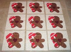 9  Gingerbreads with Candy Canes Quilt Kit by MarsyesQuiltShop, $13.95