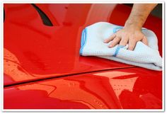Car Care Tip: Pat dry your car as soon as you're done washing with clean, 100% cotton towels to avoid dry spots and scratch marks.  Read more cleaning tips at http://www.empirecovers.com/articles/washingyourcar.aspx