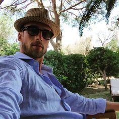 Pausa pranzo... Sempre più caldo!!! @fortevillage #hot #sun #sardinia #garden #palm #relax #fishandchips #gnamgnam #me #instagood #bye