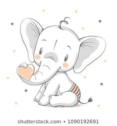 Can be used for t-shirt pr… Cute elephant cartoon hand drawn vector illustration. Can be used for t-shirt printing, kids wear fashion design, baby shower celebration greeting and invitation card. Baby Elephant Drawing, Cute Elephant Cartoon, Cute Baby Elephant, Elephant Art, Little Elephant, Baby Cartoon, Cute Cartoon, Baby Elephant Tattoo, Elephant Images