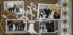 Scrapbook Page - A New Branch on the Family Tree - 2 page wedding layout with a beautiful tree - from Wedding Album 1