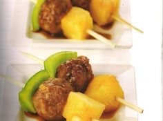 Hawaiian Sweet and Sour Meatballs - Makes a great Appetizer :)