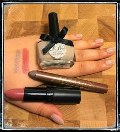 "Fundstücke #4 Ciaté Nagellack ""Cookies and Cream"" (058), Lasting Finish Lippenstift by Kate Moss 08, Astor 24h Perfect Sty Waterproof Eye Shadow + Liner 100 Creamy Taupe"