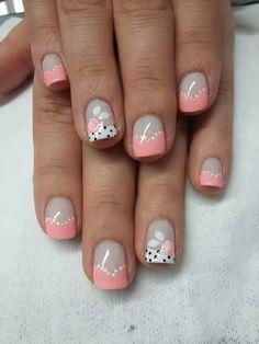 Cute Nail Art Ideas to Try - Nailschick Elegant Nail Art, Pretty Nail Art, Cute Nail Art, Beautiful Nail Art, Cute Nails, Fingernail Designs, Nail Polish Designs, Cute Nail Designs, Hair And Nails