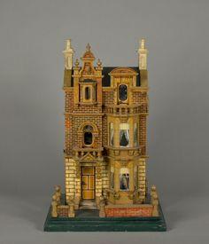 German 1900 dollhouse  Rick Maccione-Dollhouse Builder www.dollhousemansions.com