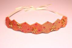 Spot Fabric hairband. Vintage fabric headband. by SheSellsHeart, £18.00