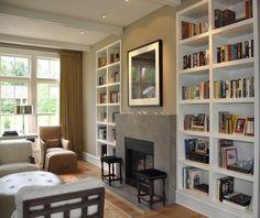simple built-in bookshelves