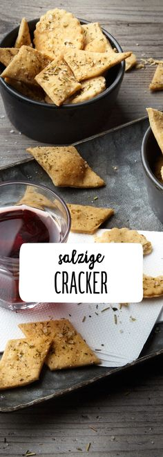 Salzige Cracker #fingerfood #snacks #salz