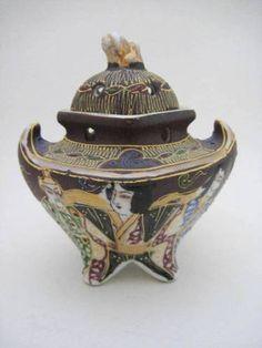 Vintage Satsuma Fine Porcelain Japanese Incense Burner