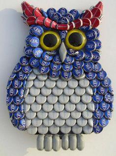 Bottle Caps Owl