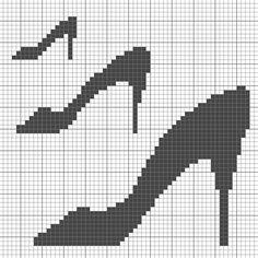 cross stitch black shoes