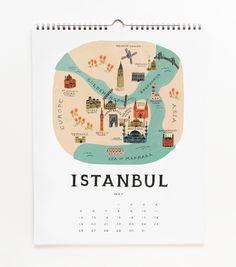 Rifle Paper Co. - 2013 Cities Calendar