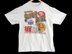 VTG 1994 SF 49ers T-Shirt - Large - Superbowl Champions 1995 - Football -  NFL - Hanes Heavyweight - Vintage Tee - Vintage Clothing - 2c367974b