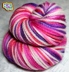 You are purchasing a hank of READY TO SHIP hand-painted DK weight chain-plied yarn. This yarn will produce anything you desire - a cowl, scarf, hat,