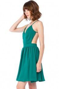 Luna Dress in Kelly Green