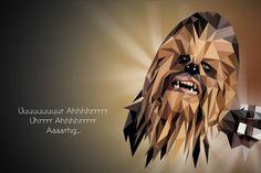 rawbdz:Low poly Chewbacca portrait